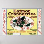 Arbutus Eatmor Cranberries Brand Poster