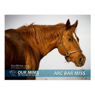 Arc Bar Miss postcard