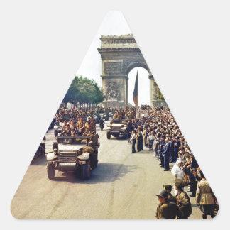 Arc De Triomphe 2 Triangle Sticker