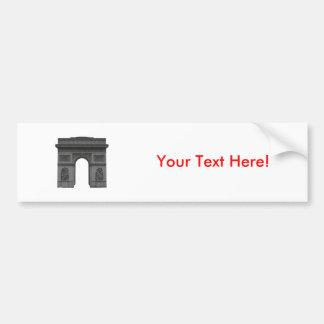 Arc de Triomphe: 3D Model: Car Bumper Sticker