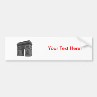 Arc de Triomphe 3D Model Bumper Stickers