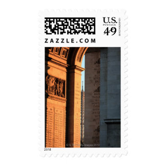 ARC DE TRIOMPHE and EIFFEL tower 2 Postage Stamps