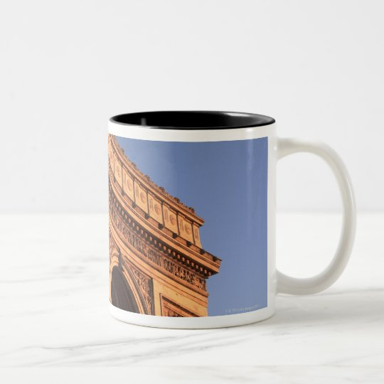 ARC DE TRIOMPHE and EIFFEL tower Two-Tone Coffee Mug