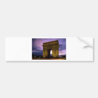 arc de triomphe at dusk, paris, france car bumper sticker