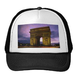 arc de triomphe at dusk, paris, france trucker hat