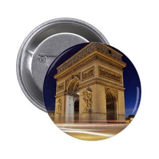 Arc De Triomphe at night Pins