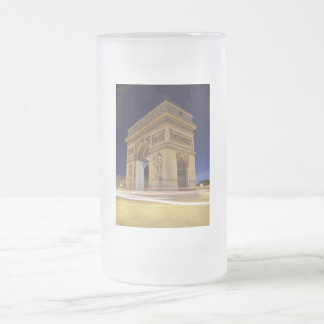 Arc De Triomphe at night Frosted Glass Beer Mug
