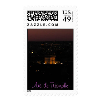 Arc de Triomphe At Night Stamps