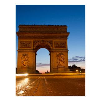 Arc de Triomphe at Night Postcard
