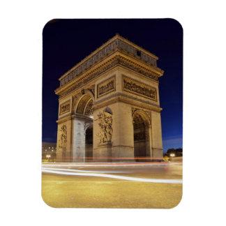 Arc De Triomphe at night Rectangle Magnet