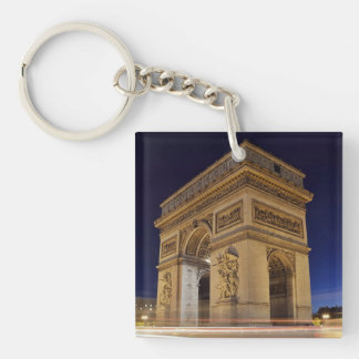 Arc De Triomphe at night Single-Sided Square Acrylic Keychain