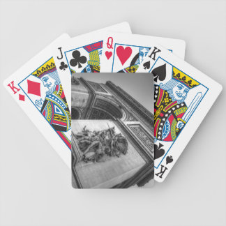 Arc de Triomphe b/w Bicycle Playing Cards