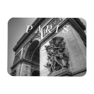 Arc de Triomphe b w Vinyl Magnet