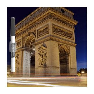 Arc de Triomphe de l Étoile in Paris night shot Dry-Erase Whiteboards