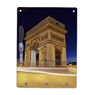 Arc de Triomphe de l Étoile in Paris night shot Dry Erase Board