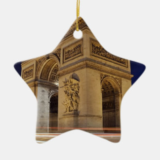 Arc de Triomphe de l'Étoile in Paris night shot Ceramic Ornament