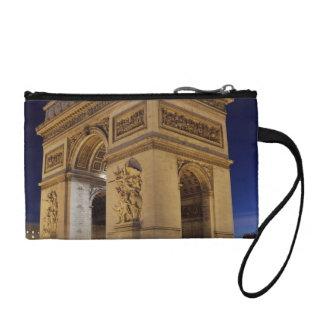 Arc de Triomphe de l'Étoile in Paris night shot Coin Wallet