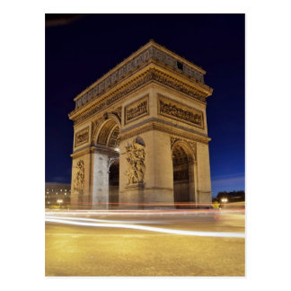 Arc de Triomphe de l'Étoile in Paris night shot Postcard