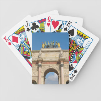 Arc de Triomphe du Carrousel in Paris, France Bicycle Playing Cards