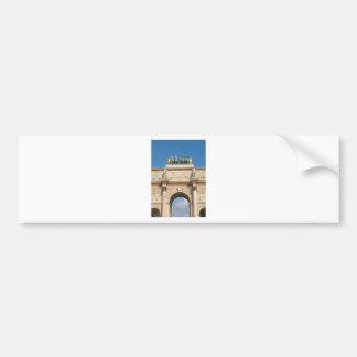 Arc de Triomphe du Carrousel in Paris, France Bumper Sticker