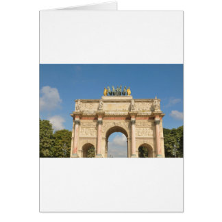 Arc de Triomphe du Carrousel in Paris, France Card