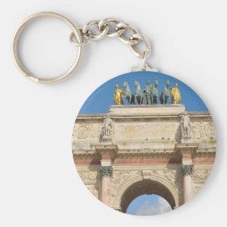 Arc de Triomphe du Carrousel in Paris, France Keychain