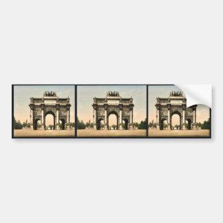 Arc de Triomphe, du Carrousel, Paris, France vinta Car Bumper Sticker