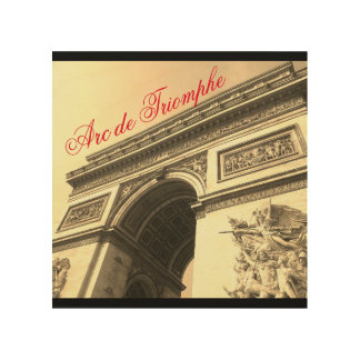 Arc de Triomphe France Sepia Vintage Wall Art