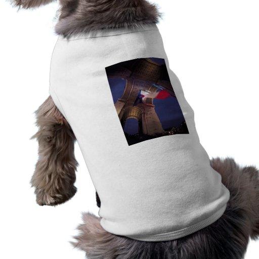Arc de Triomphe French Flag Dog Clothing