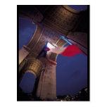 Arc de Triomphe French Flag Post Card