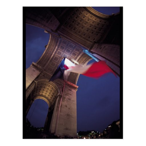 Arc de Triomphe French Flag Post Card