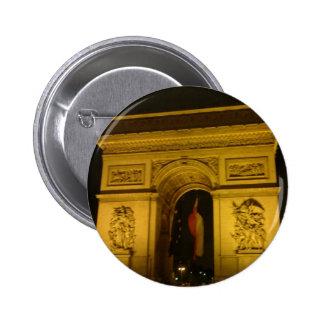 Arc de Triomphe in Paris France Pinback Buttons
