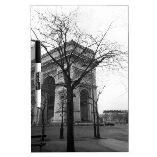 Arc de Triomphe in Paris France Dry Erase Board