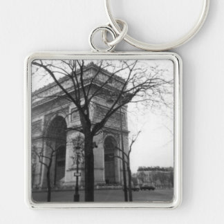Arc de Triomphe in Paris, France Silver-Colored Square Keychain
