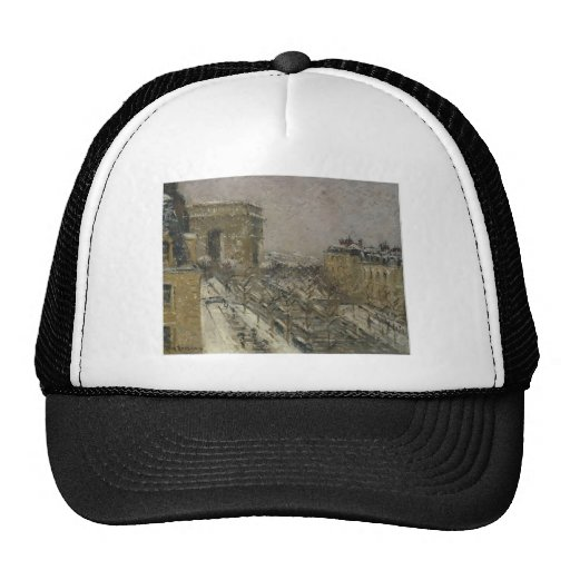 Arc de Triomphe in the Snow by Gustave Loiseau Trucker Hat