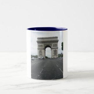 Arc de Triomphe Two-Tone Coffee Mug