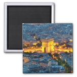Arc de Triomphe, Paris, France 2 Inch Square Magnet