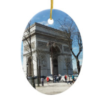 Arc de Triomphe, Paris, France Ceramic Ornament