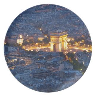 Arc De Triomphe Paris France Cosmopolitan City Plate