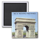 ARC de TRIOMPHE, PARIS FRANCE Magnet