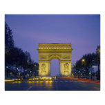 Arc de Triomphe, Paris, France, Poster