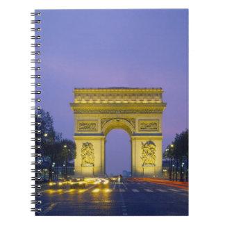 Arc de Triomphe, Paris, France, Spiral Notebook