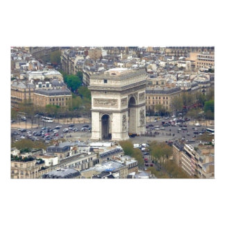 Arc de Triomphe Paris France Customised Stationery