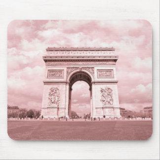 Arc de Triomphe, Paris in Pink France Mouse Pad