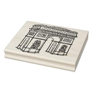 Arc de Triomphe - Paris - Retro Design Art Stamp
