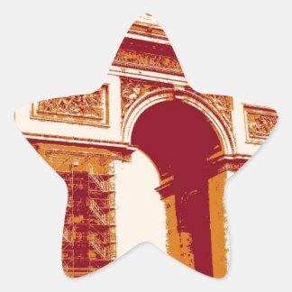 Arc de Triomphe Paris Star Sticker