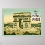 Arc de Triomphe ~ Paris ~ Vintage Travel Poster