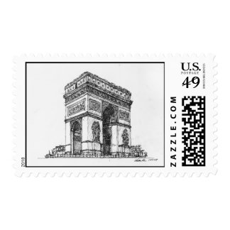 Arc de Triomphe Postage Stamps