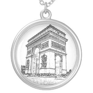 Arc de Triomphe Round Pendant Necklace