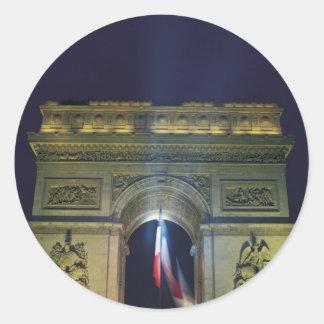 Arc de Triomphe Round Sticker